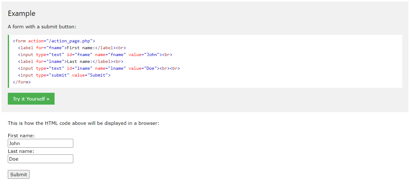 HTML5 form example