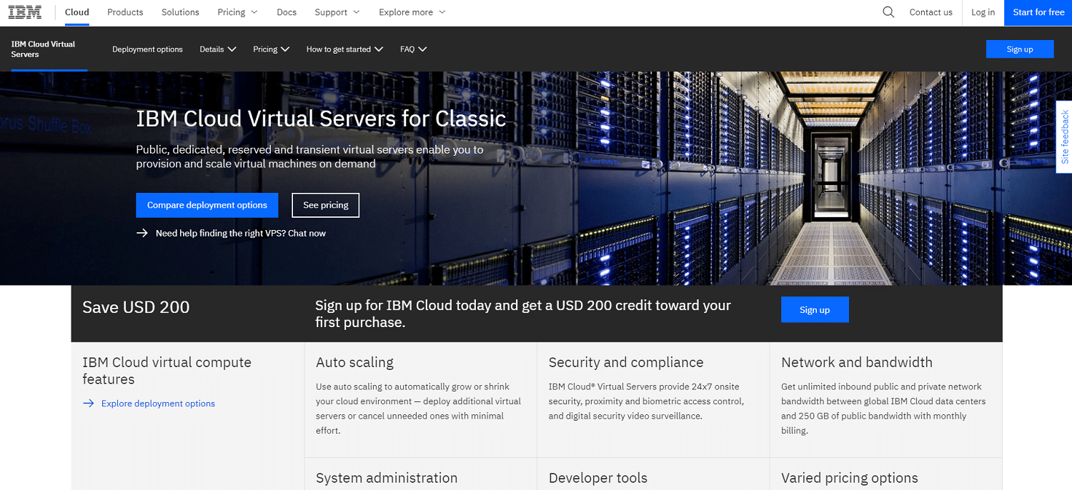 IBM cloud virtual servers