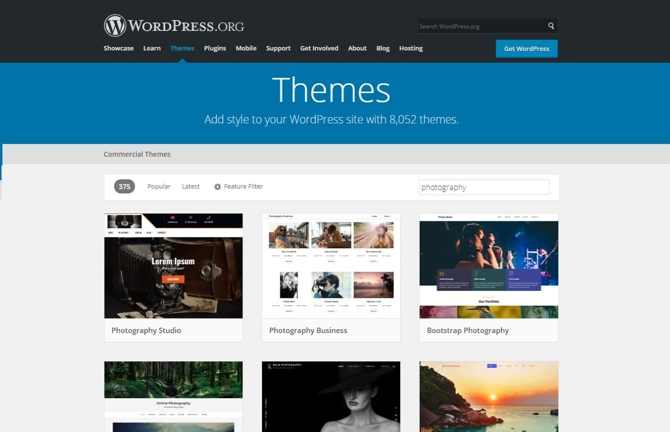 WordPress theme directory.