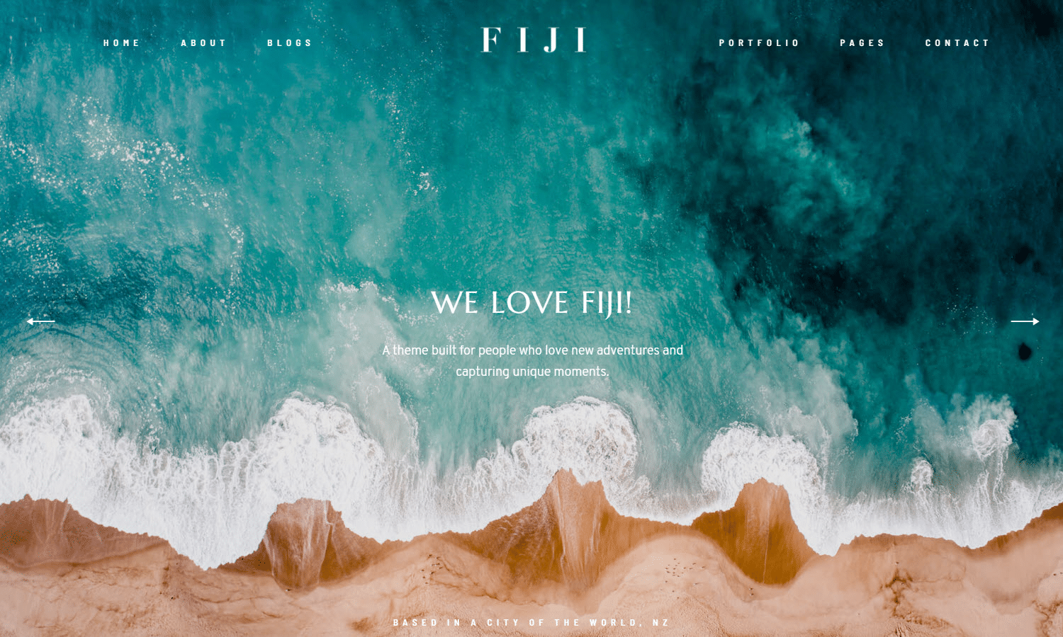 Fiji II WordPress photography theme.