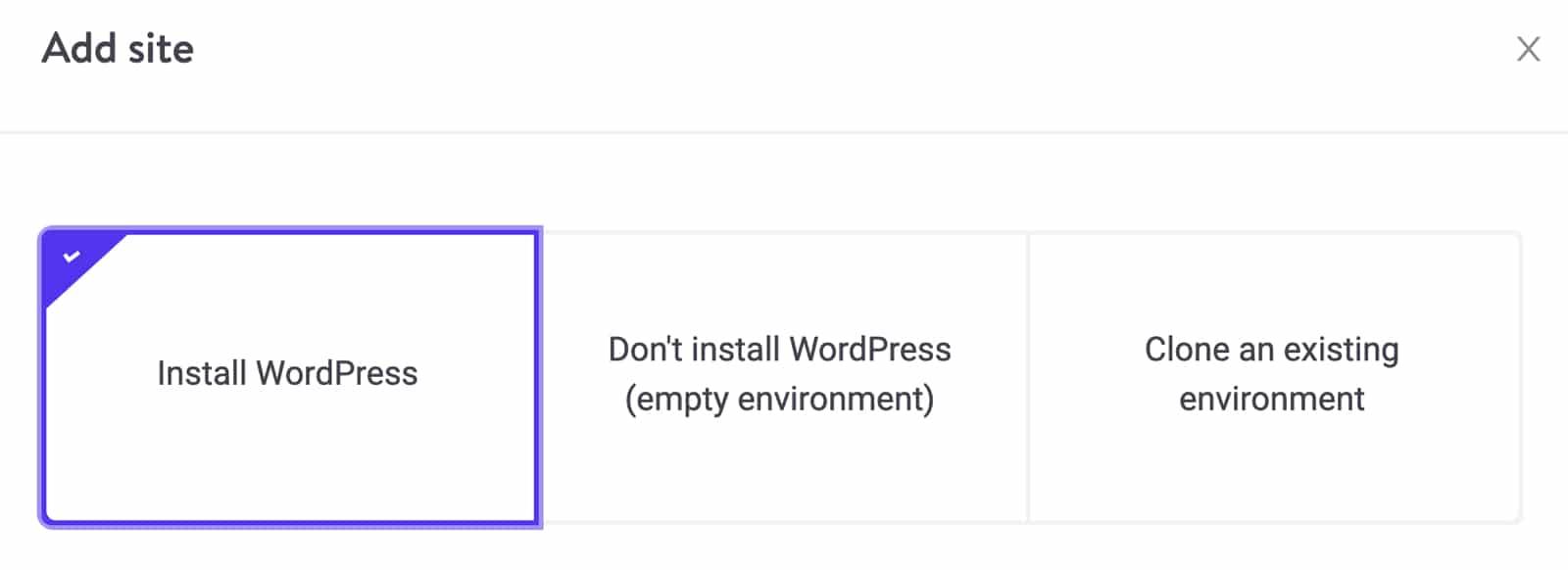 """El botón """"Instalar WordPress"""" de Kinsta"""