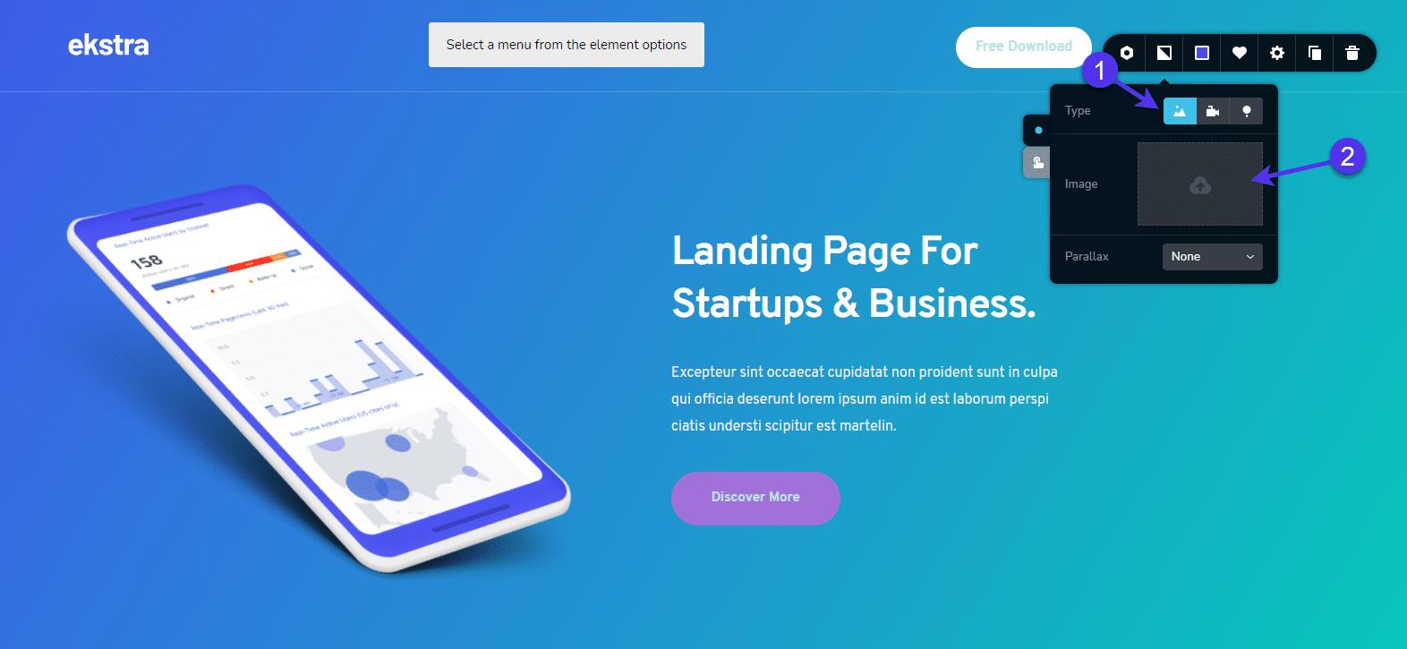 WordPress background image type