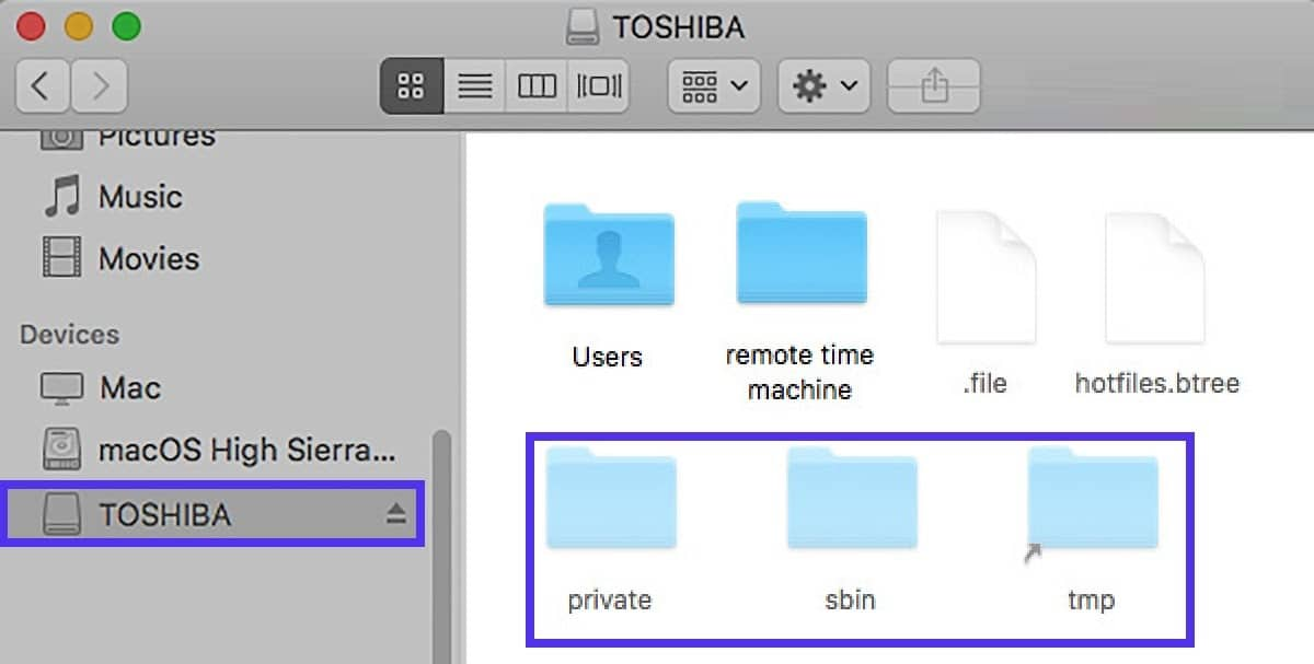 Showing hidden files on USB on Mac.