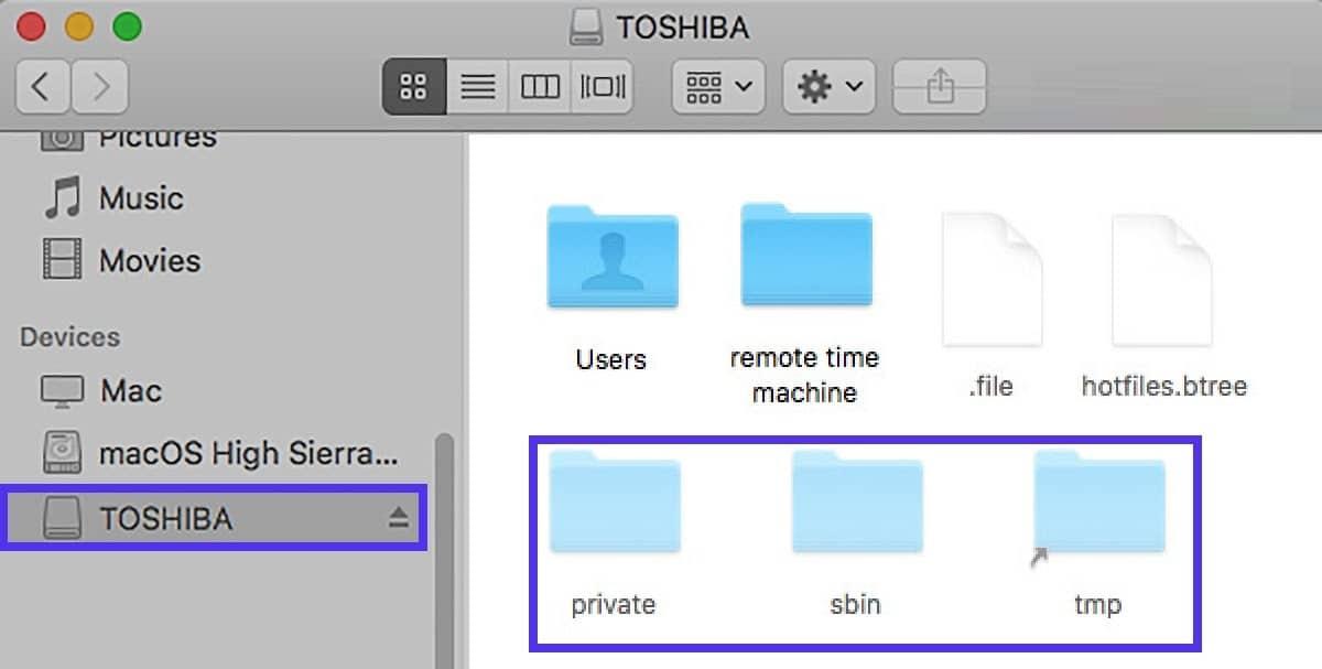 Mostrare i file nascosti su USB su Mac