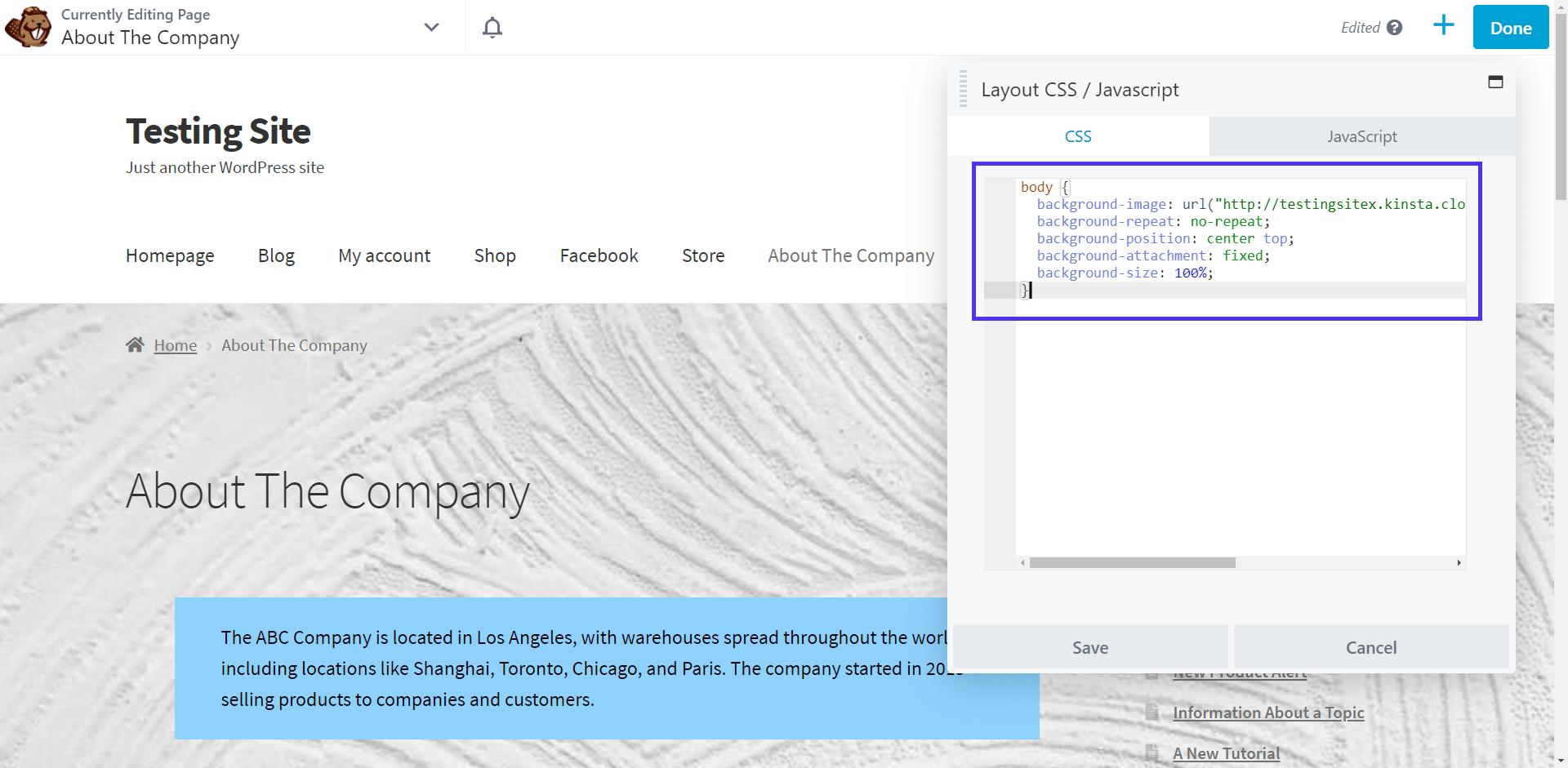 Adding custom CSS