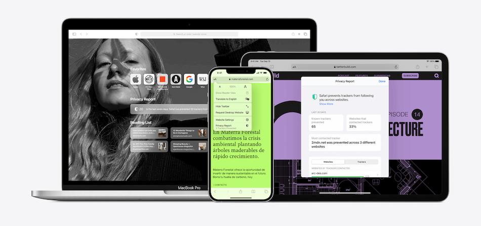 Le navigateur Safari d'Apple.