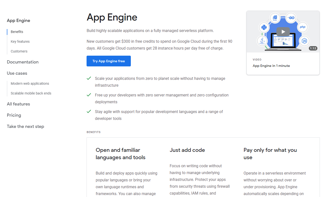 Google App Engine, screenshot