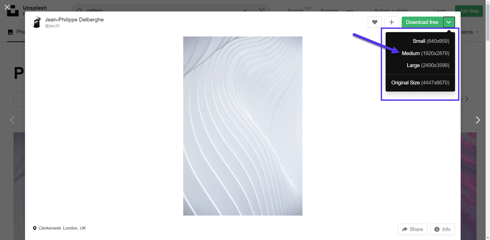WordPress background image dimensions