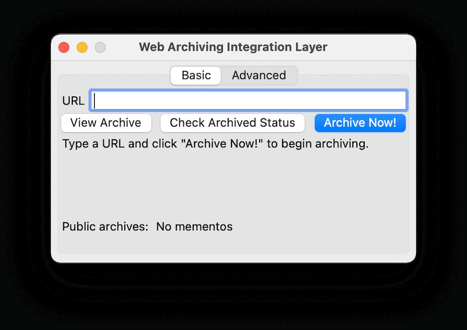 L'interface WAIL vous offre trois options.