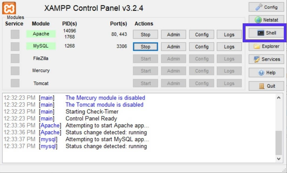 Use the XAMPP shell to change your root password.