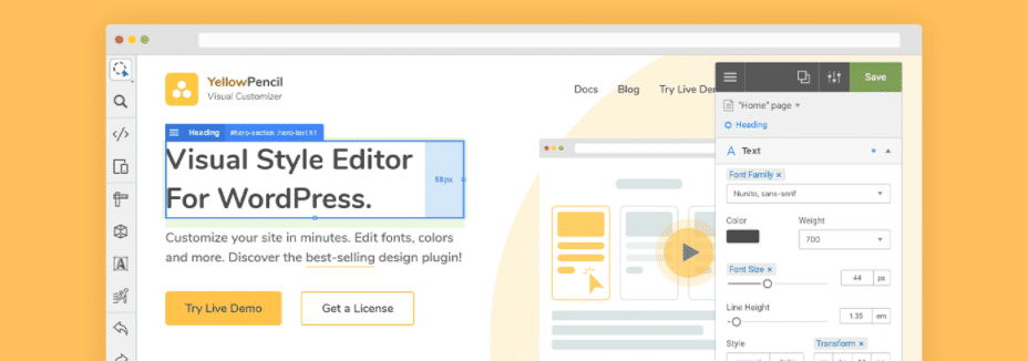 L'extension WordPress YellowPencil Visual Customizer