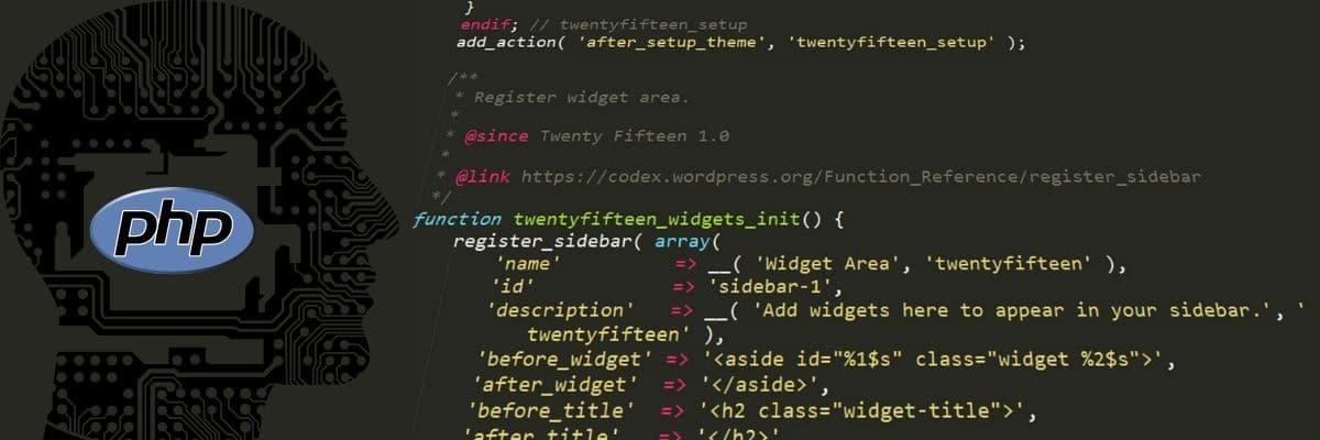 Code written in PHP