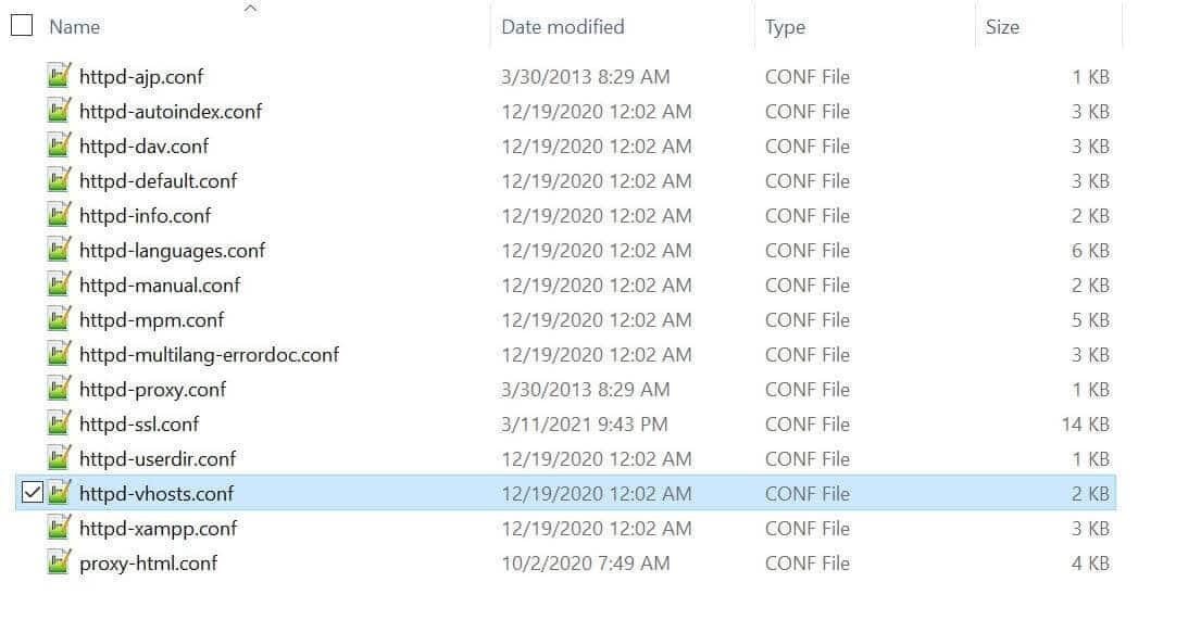 Die httpd-vhosts.conf Datei ist der Schlüssel zur Lösung des index.php Fehlers.