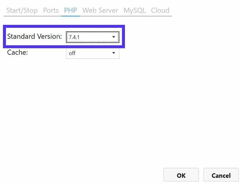 Je kan de PHP versie in MAMP proberen te wijzigen wanneer de Apache server niet opstart.