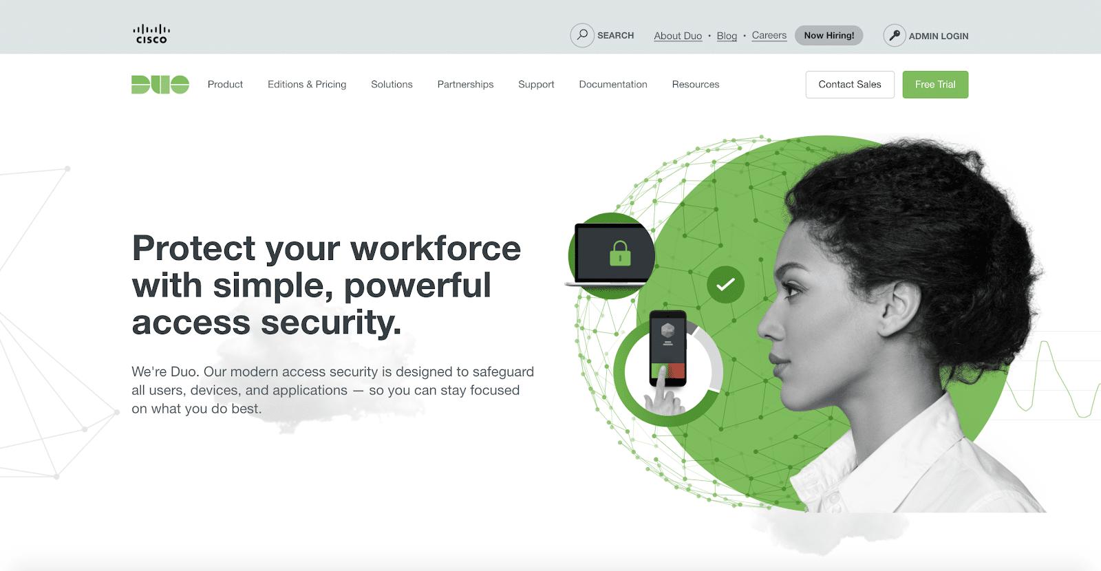 Connectez-vous en toute sécurité à vos comptes avec le produit d'authentification de Duo Security.
