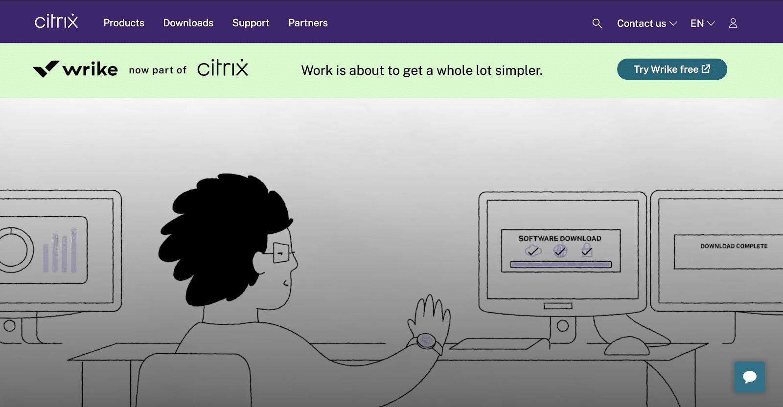 Citrix permet aux employés de se connecter facilement à un bureau depuis n'importe où.