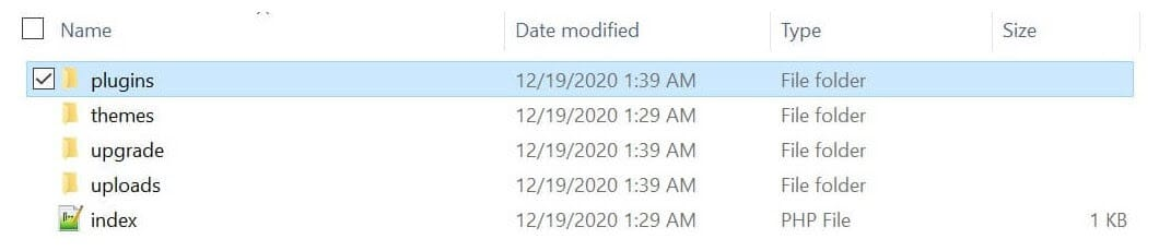 Rename the plugins folder to disable all plugins and restore access.