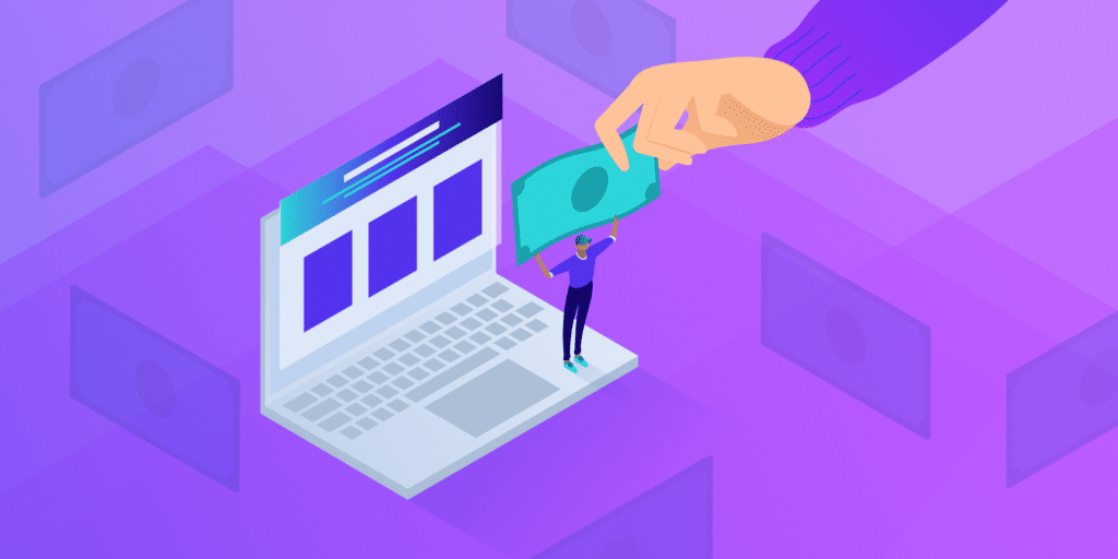 Sell Website, featured image, illustration.