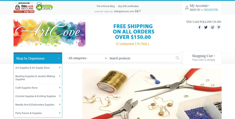 ArtCoveのウェブサイト