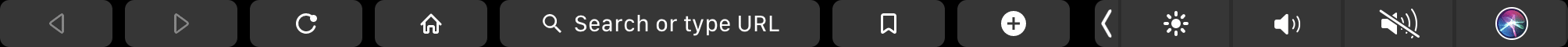 La barre tactile du Mac peut également être capturée à l'aide d'un raccourci.
