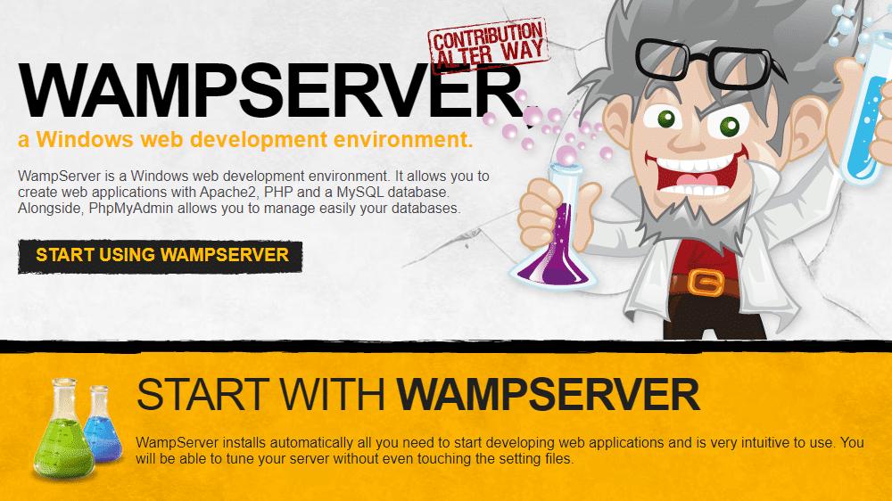 WAMPServer's homepage, screenshot.