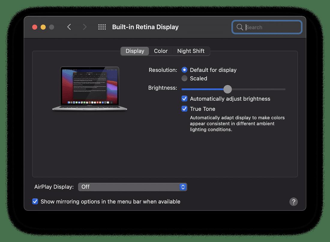 Capture d'une fenêtre dans macOS.