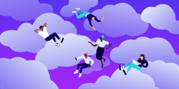 Benefits of cloud computing, featured image, illustration.