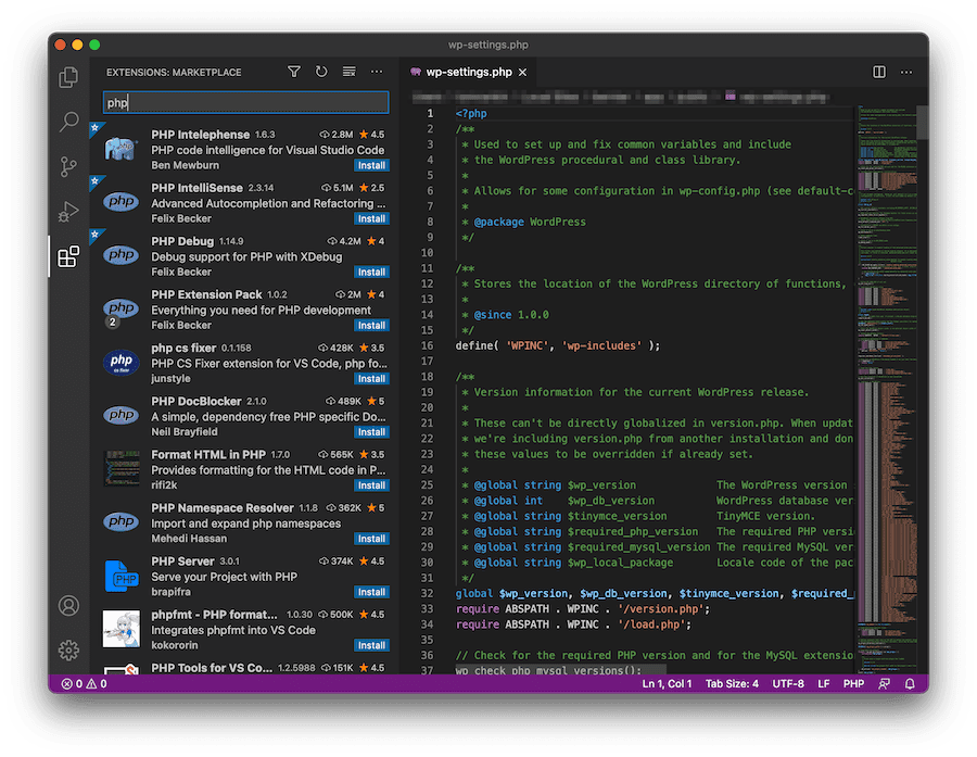 The Visual Studio Code extensions library.