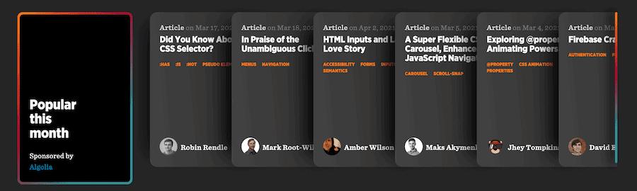 The CSS-Tricks homepage.
