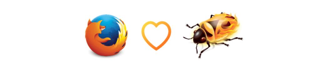 Die Logos von Firefox und Firebug.