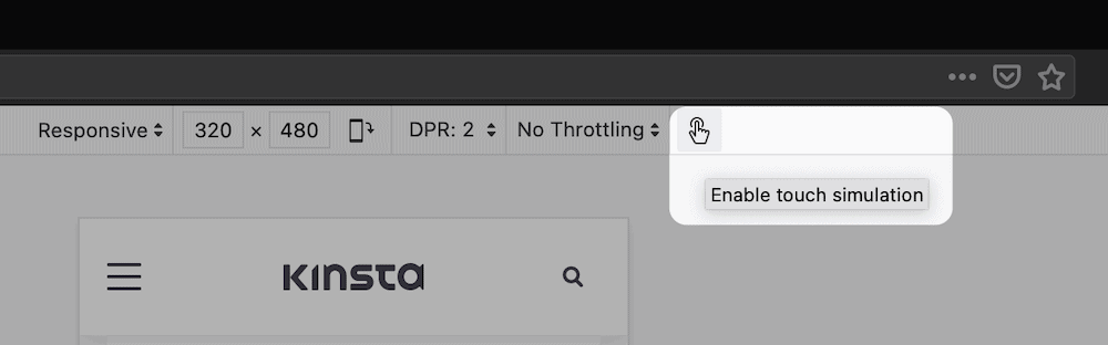 Die Option für haptisches Feedback in Firefox.