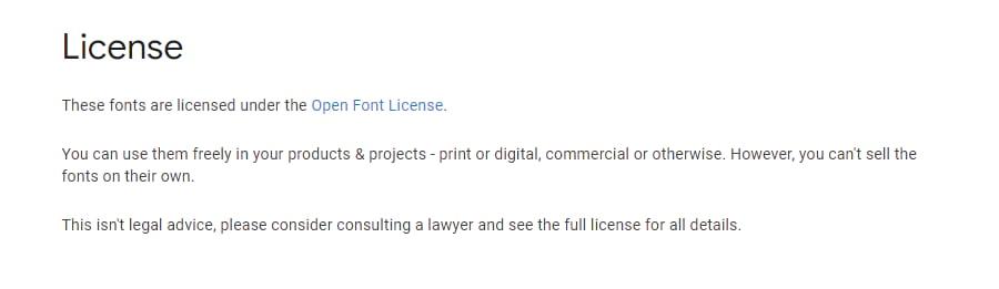 Open font license.