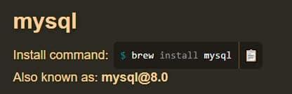 Uso de Homebrew para instalar MySQL en Mac