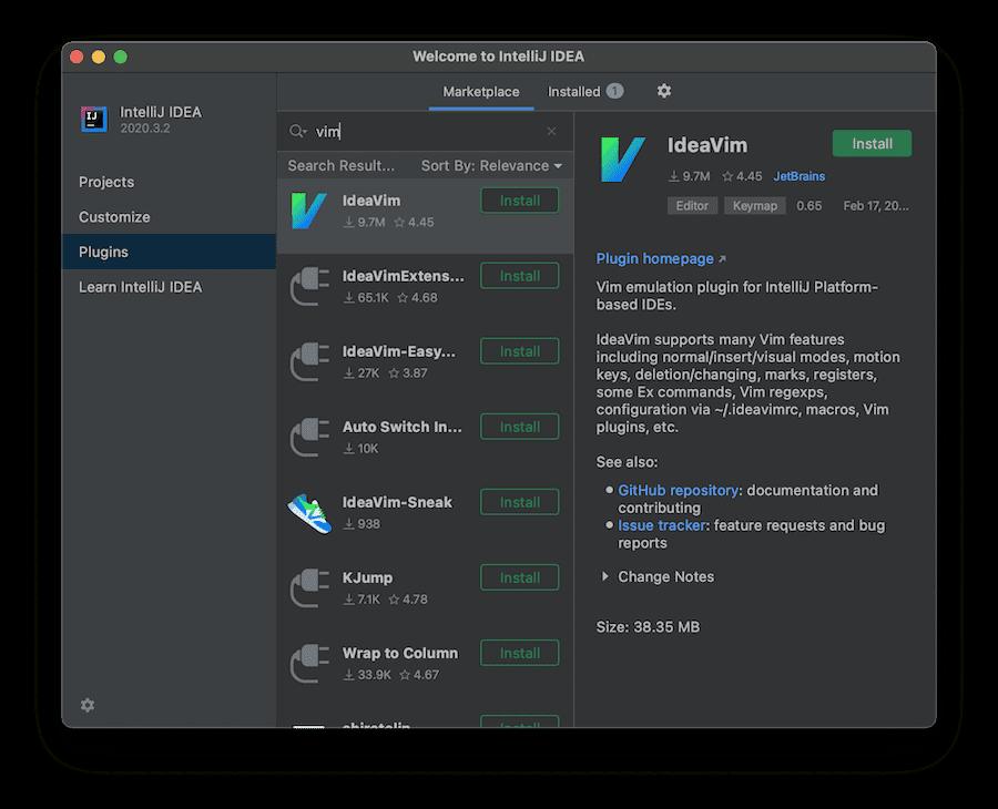IDEAs Vim keybindings extension.
