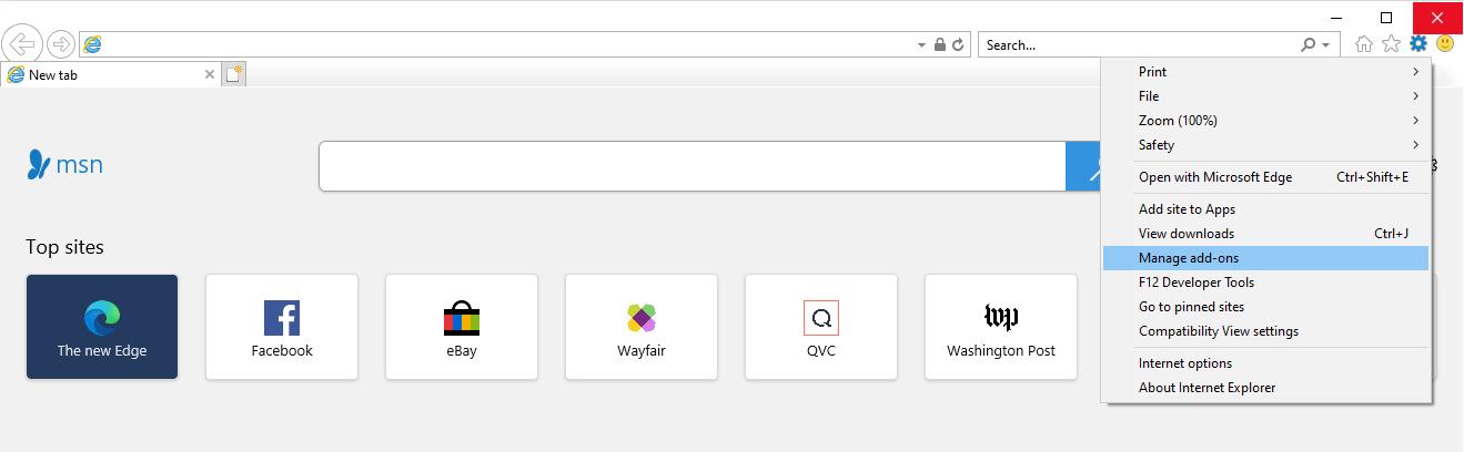 Gestire i componenti aggiuntivi in Internet Explorer