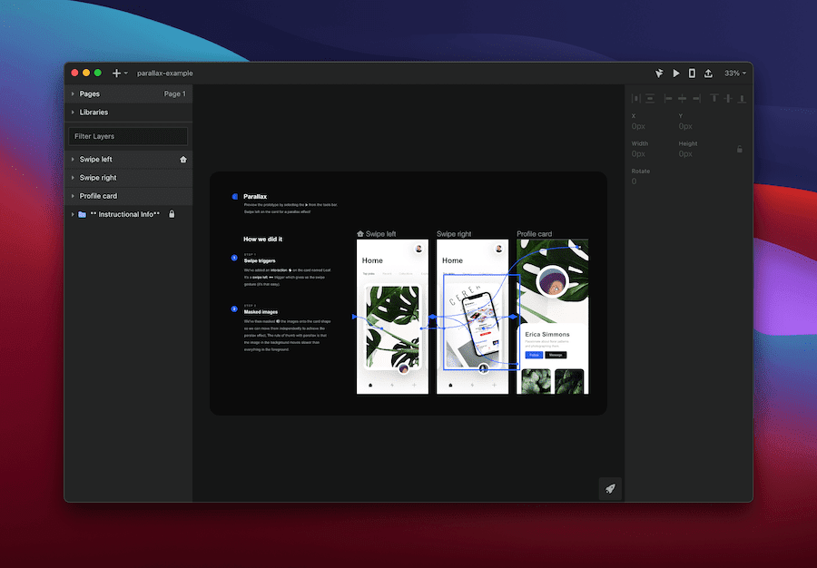 Animations within the InVision Studio app.
