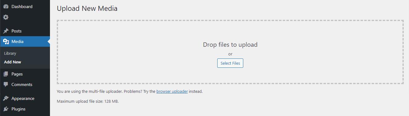 Controllare la dimensione massima di caricamento dei file in WordPress