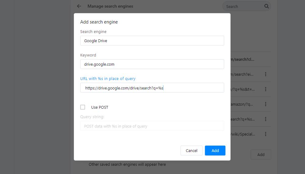 Aggiunta di un'opzione per il motore di ricerca a Opera.