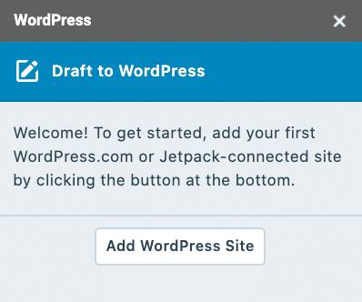 Füge eine WordPress Seite über das WordPress zu Google Docs Add-on hinzu.