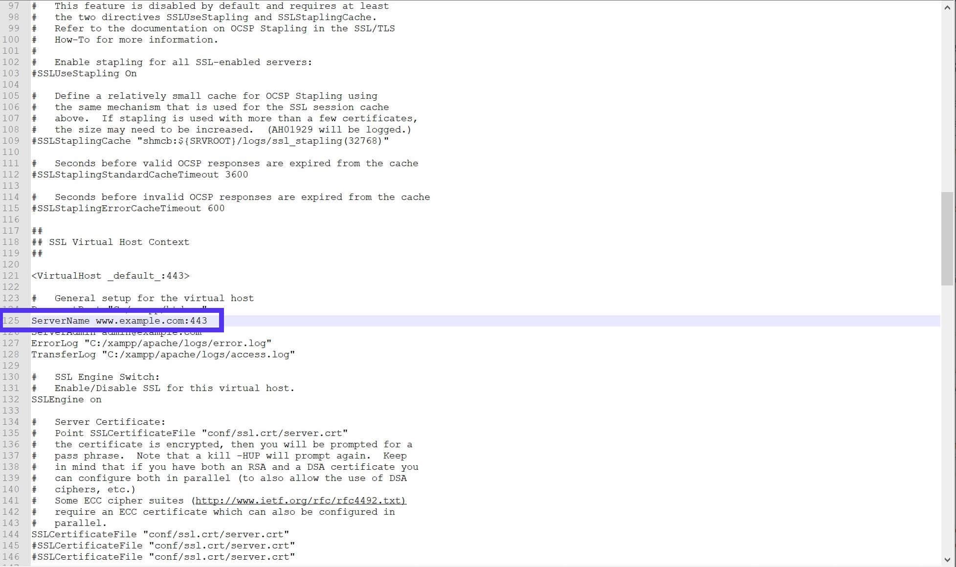 Linha 125 do arquivo httpd-ssl.conf.