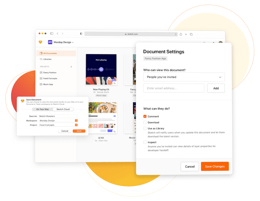 An overview of Sketch for Teams.