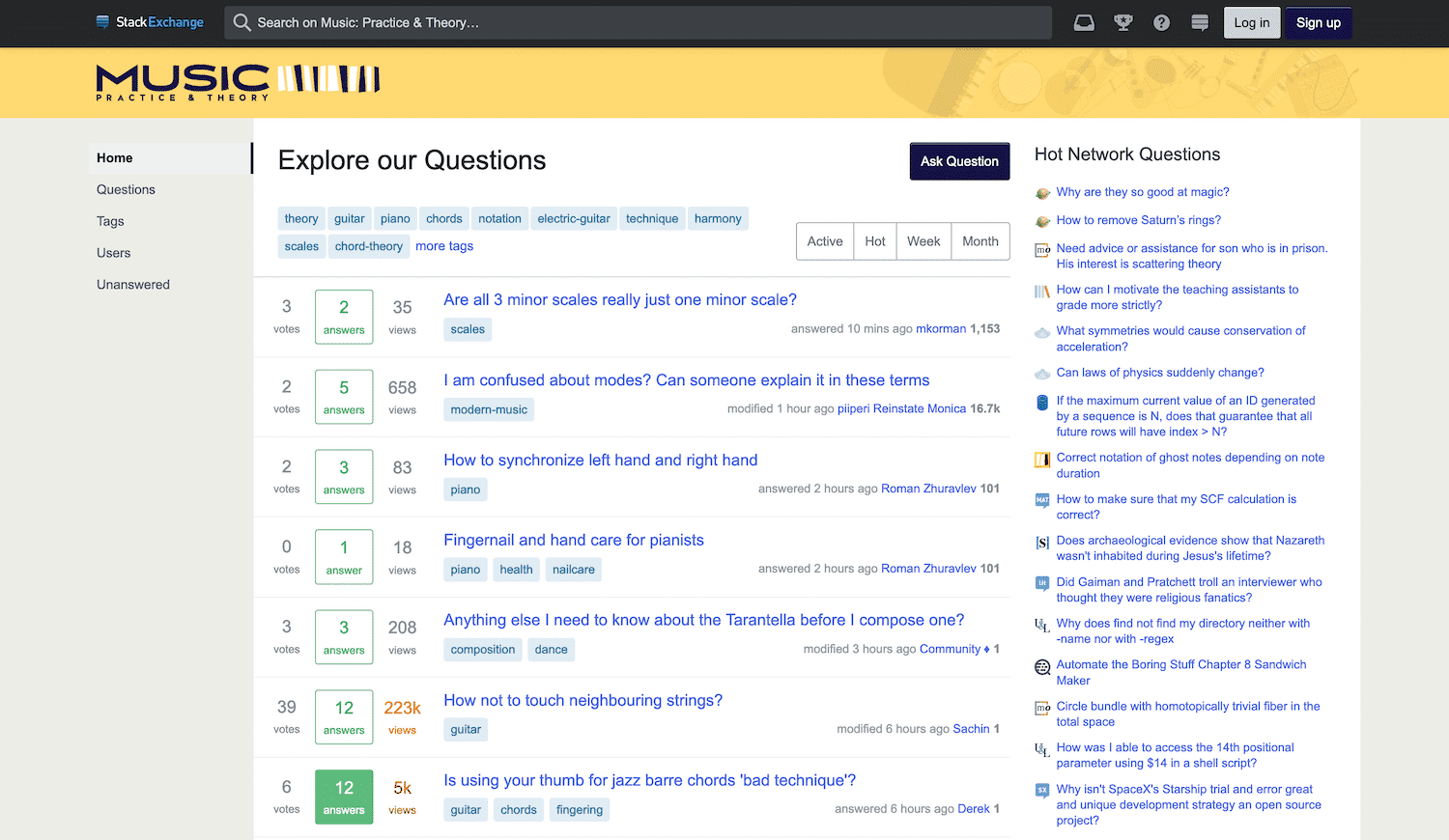 One of many niche sites in the Stack Exchange network.