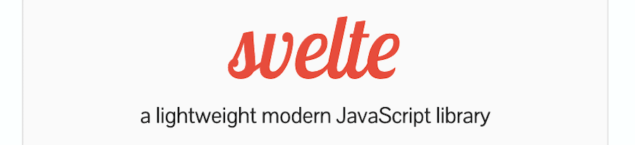The Svelte.js homepage.
