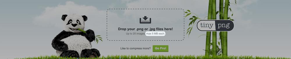 Die TinyPNG-Startseite.