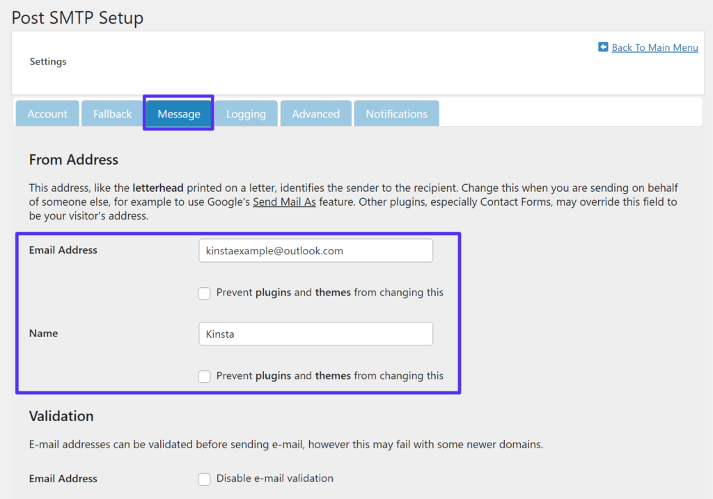 """How to set your """"From"""" email and name"""