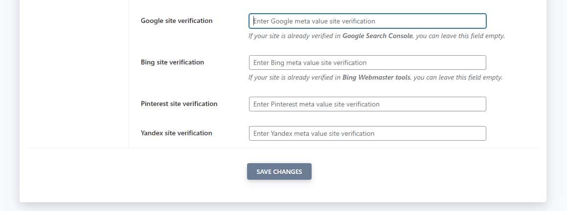 O SEOPress simplifica o processo de verificação do site do Google.