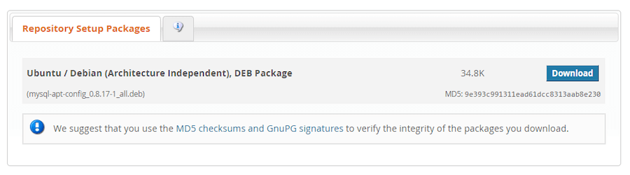 Repository setup packages.