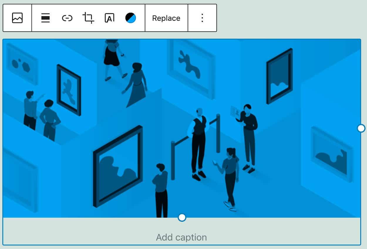 Duoton-Farbfilter, der auf ein Bild angewendet wird.