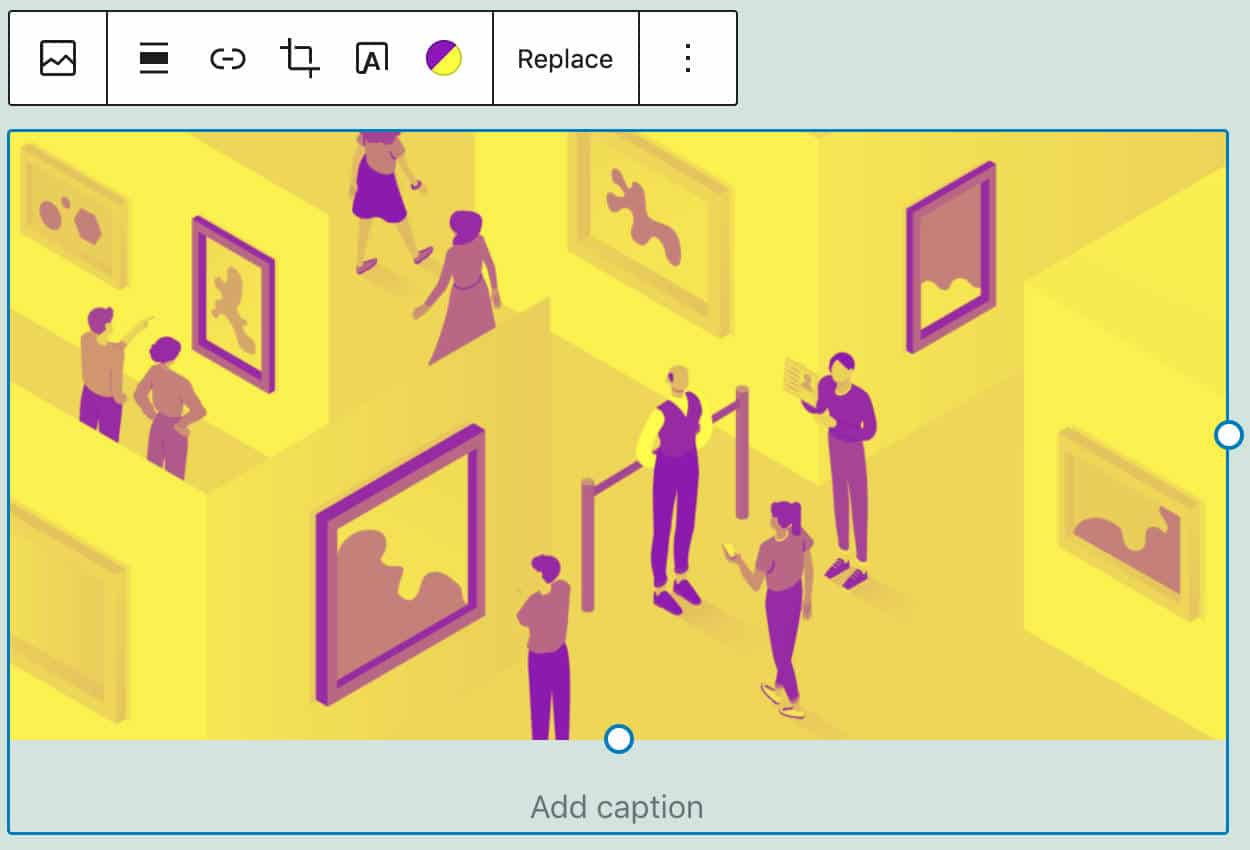 Ein anderer Duoton-Farbfilter, der auf ein Bild angewendet wird.