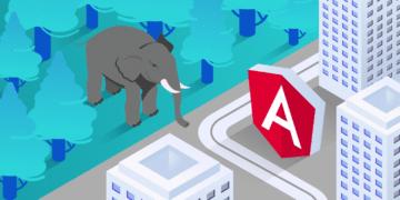 PHP vs Angular, featured image, illustration.